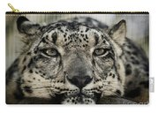 Snow Leopard Upclose Carry-all Pouch