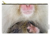 Snow Monkey Love Carry-all Pouch