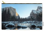Snow On Large Rocks With El Capitan In The Background Carry-all Pouch