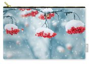 Snow On Red Berries Carry-all Pouch