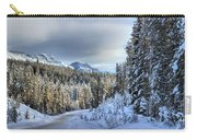 Snow On The Bow Valley Parkway Carry-all Pouch