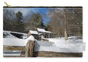 Snow On The Old Time Mill Carry-all Pouch