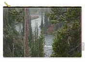 Snow On The Yellowstone River Carry-all Pouch