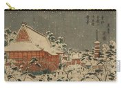 Snow Scene At Sens Ji Temple At Kinry Zan In The Eastern Capital Carry-all Pouch