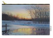 Snow Scene At Sunset Carry-all Pouch