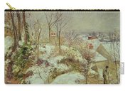 Snow Scene Carry-all Pouch by Camille Pissarro