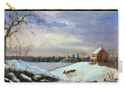 Snow Scene In New England Carry-all Pouch by American School