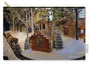 Snow Scene With Train Carry-all Pouch