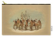 Snow Shoe Dance. Ojibbeway Carry-all Pouch
