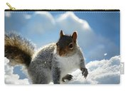 Snow Squirrel Carry-all Pouch