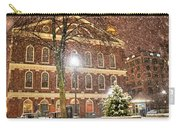 Snow Storm In Faneuil Hall Quincy Market Boston Ma Carry-all Pouch