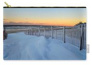 Snowfall At The Shore Carry-all Pouch