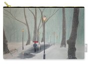Snowfall In The Park Carry-all Pouch