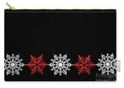 Snowflakes In A Row Carry-all Pouch