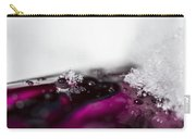 Snowflakes On Magenta Carry-all Pouch