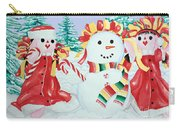 Snowgirls With Serape Scarf Carry-all Pouch