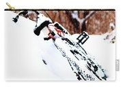 Snowing On The Bicycle Carry-all Pouch