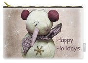 Snowman Greeting Card Carry-all Pouch