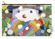 Snowman In Snow Carry-all Pouch