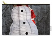 Snowman On The Roof Carry-all Pouch