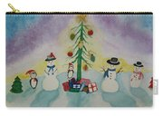 Snowmen On Ice Carry-all Pouch