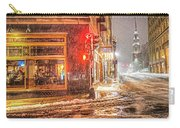 Snowstorm On Tremont Street Boston Ma Park Street Church Carry-all Pouch
