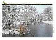 Chilled Scenery Around Frozen Canals Carry-all Pouch
