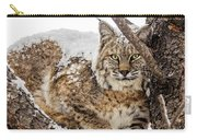 Snowy Bobcat Carry-all Pouch