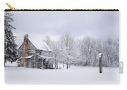 Snowy Cabin Carry-all Pouch by Benanne Stiens