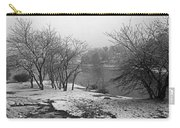 Snowy Day On Redd's Pond And Old Burial Hill Carry-all Pouch