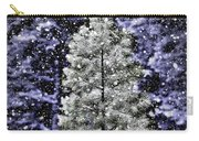 Snowy Day Pine Tree Carry-all Pouch