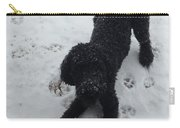 Snowy Dog Carry-all Pouch