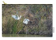 Snowy Egret Confrontation 8664-022018-1 Carry-all Pouch