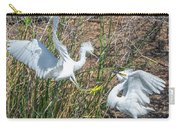 Snowy Egret Confrontation 8664-022018-1cr Carry-all Pouch