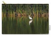 Snowy Egret In Marsh Reinterpreted Carry-all Pouch