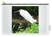 Snowy Egret In The Everglades Carry-all Pouch