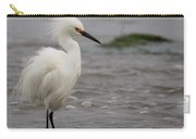 Snowy Egret In The Wind Carry-all Pouch