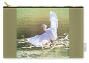 Snowy Egret Over Golden Pond Carry-all Pouch