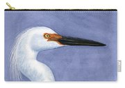 Snowy Egret Portrait Carry-all Pouch