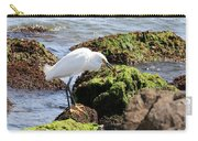 Snowy Egret  Series 2  1 Of 3  The Catch Carry-all Pouch