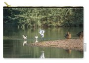 Snowy Egret Stretch 4280-080917-1 Carry-all Pouch