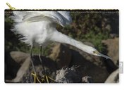 Snowy Egret Stretch Carry-all Pouch