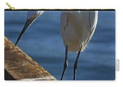 Snowy Egret That Minnow Will Be Fine Carry-all Pouch