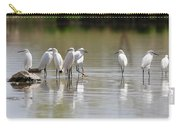 Snowy Egrets On Calm Water Carry-all Pouch