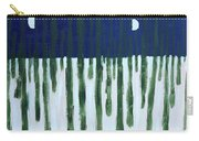 Snowy Forest At Midnight Carry-all Pouch