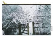 Snowy Garden Gate Three Carry-all Pouch