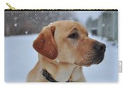 Snowy Golden Lab Carry-all Pouch