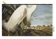 Snowy Heron Carry-all Pouch