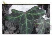 Snowy Ivy Carry-all Pouch