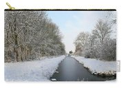 Frozen Scenery Along Canal Carry-all Pouch